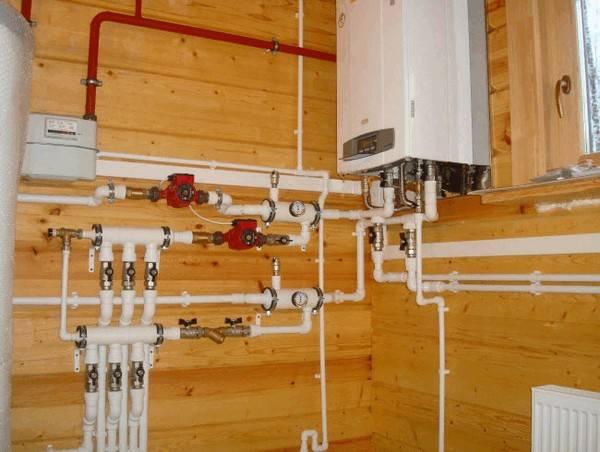 Пример сделанного монтажа газового котла